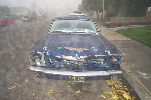 Jon's Fastback Mustang Wreck