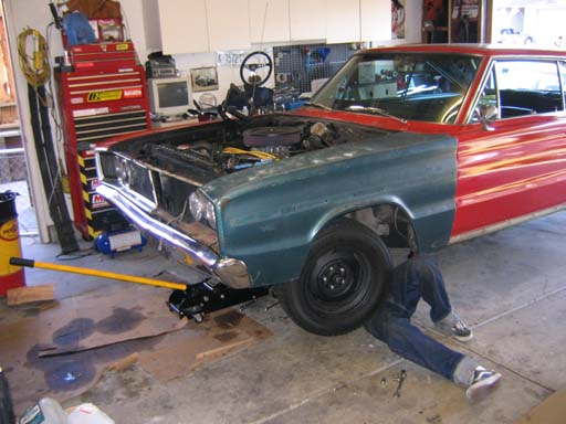 Fixing the collision damage….