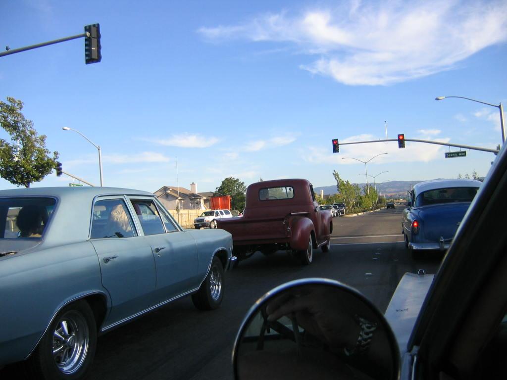 cruising farm trucks and four doors 1966 Chevy Chevelle 1951 Chevy truck