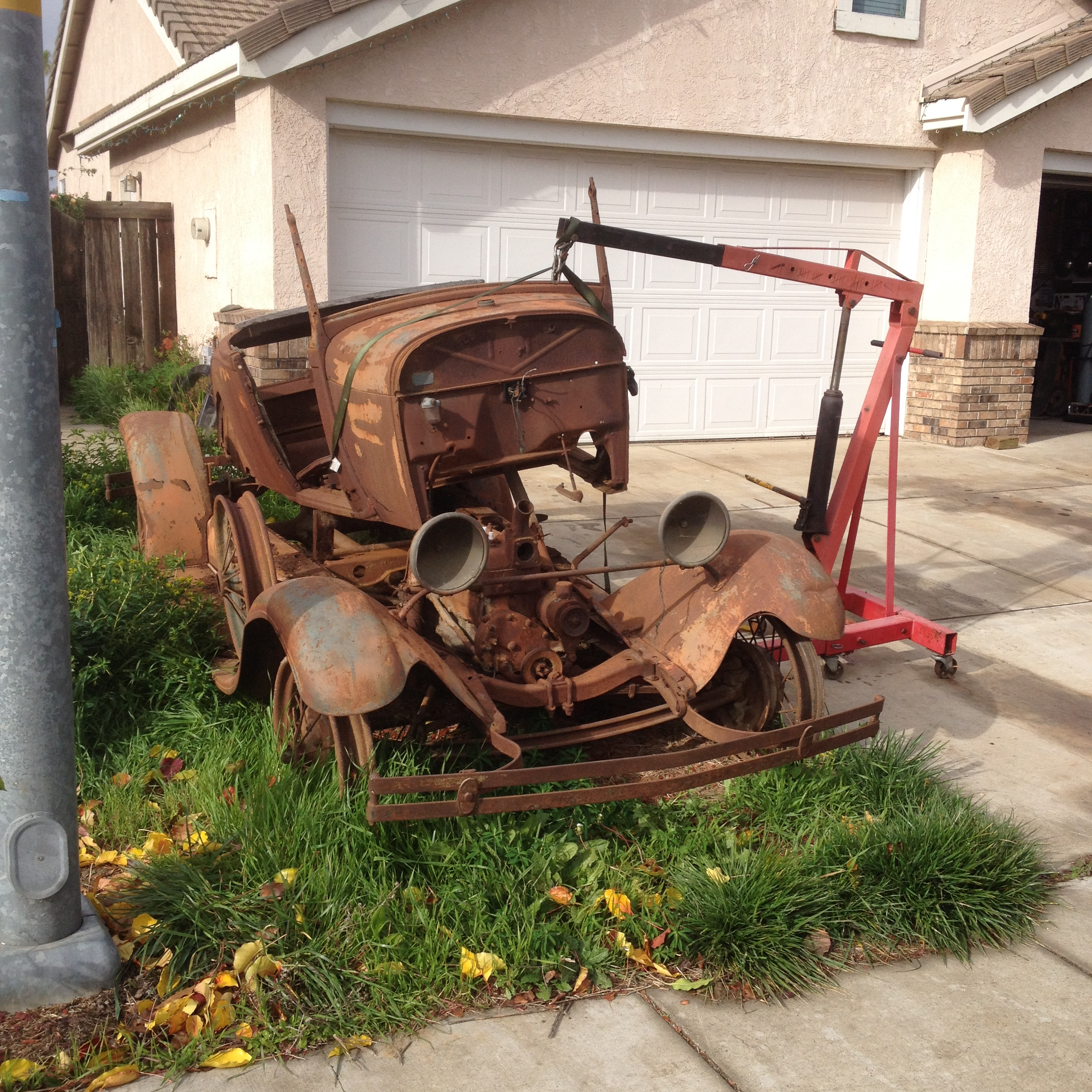 rusty 1929 ford model a roadster