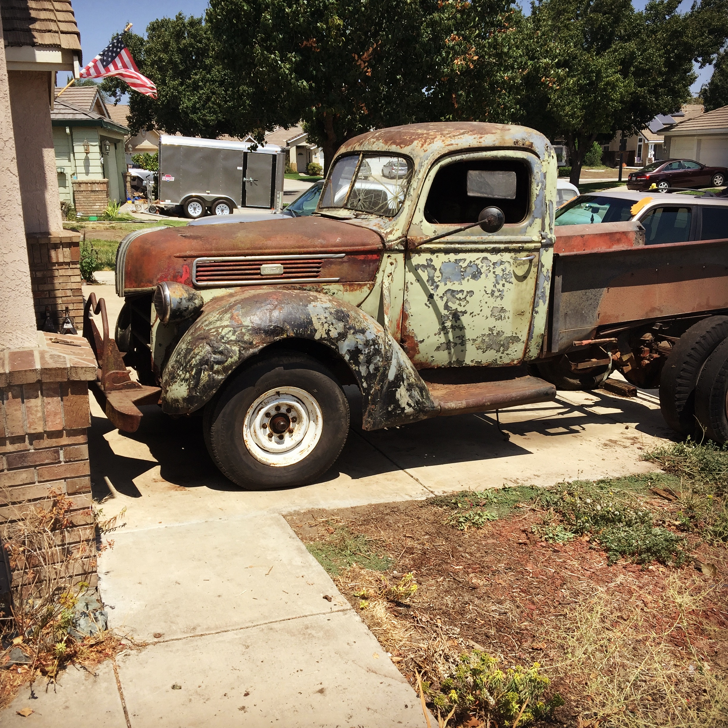 1941 Ford Truck Swapping Out The Mondo Front Axle Fenders 41